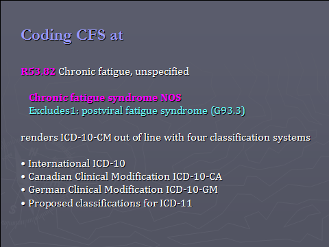 ICD-10-CM CFS CF
