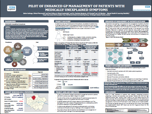 Pilot of Enhanced GP Management of Patients with Medically Unexplained Symptoms