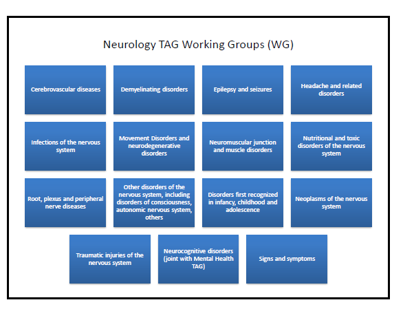 Neurology TAG sub working groups